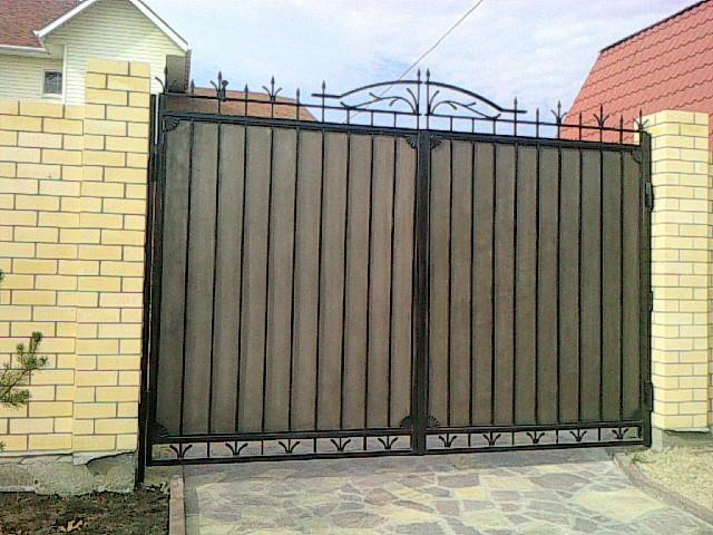 Ворота распашные металлические с калиткой в екатеринбурге купить ворота с калиткой для дачи
